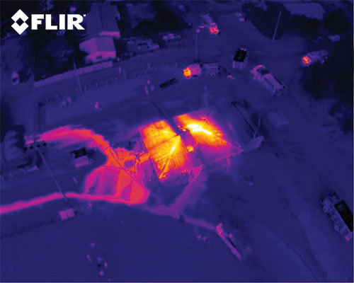 Thermal camera shot from a drone